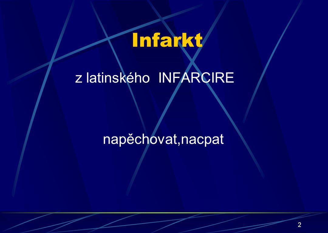 Infarkt z latinského INFARCIRE napěchovat,nacpat 2