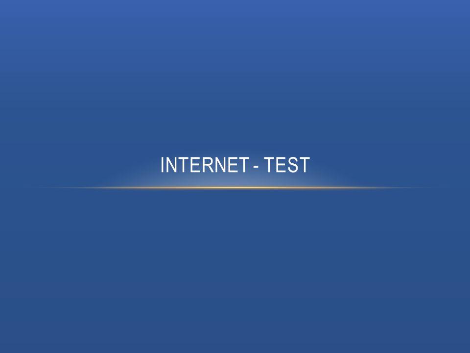 INTERNET - TEST