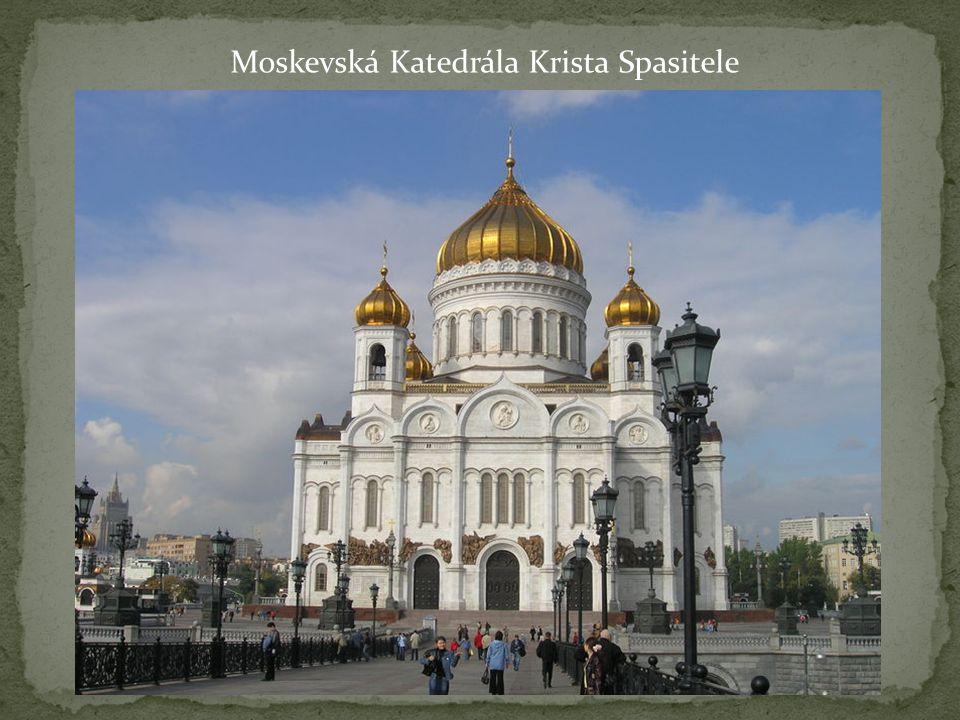Moskevská Katedrála Krista Spasitele