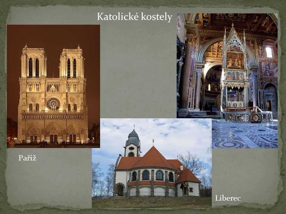 Katolické kostely Liberec Paříž