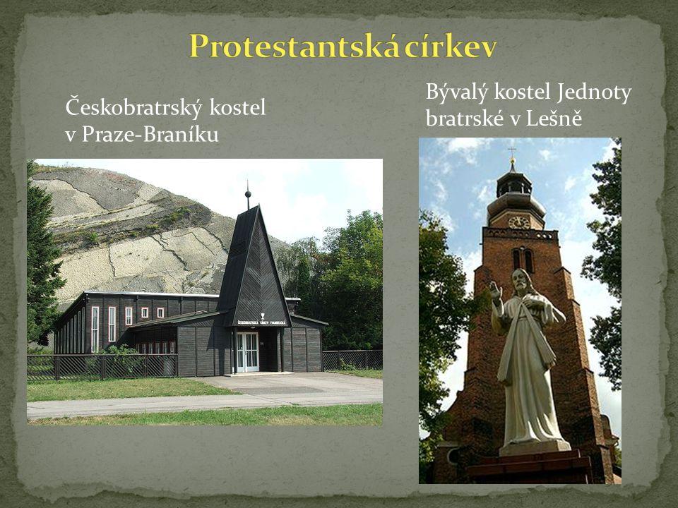 Českobratrský kostel v Praze-Braníku Bývalý kostel Jednoty bratrské v Lešně