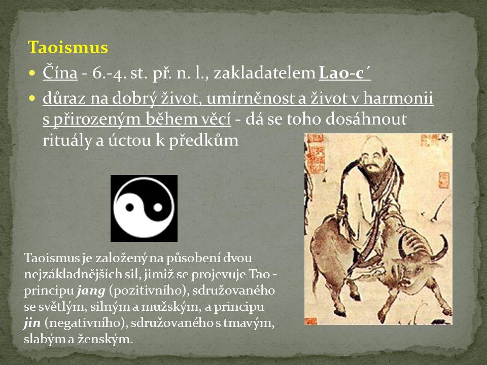 Taoismus Čína - 6.-4.st. př. n.