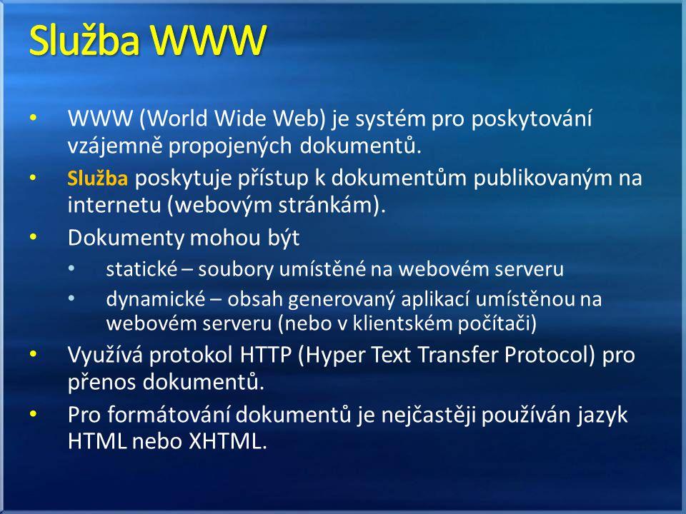WWW (World Wide Web) je systém pro poskytování vzájemně propojených dokumentů.