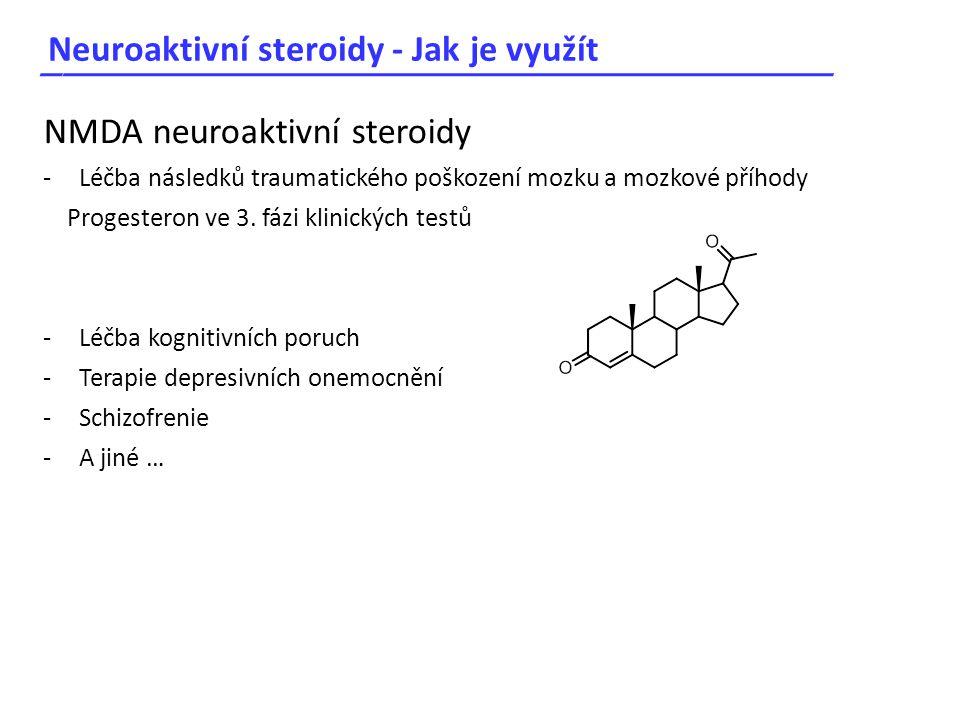 Neuroaktivní steroidy - Jak je využít _____________________________________ NMDA neuroaktivní steroidy -Léčba následků traumatického poškození mozku a