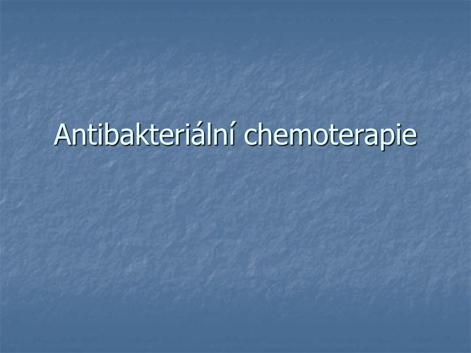 Antibakteriální chemoterapie