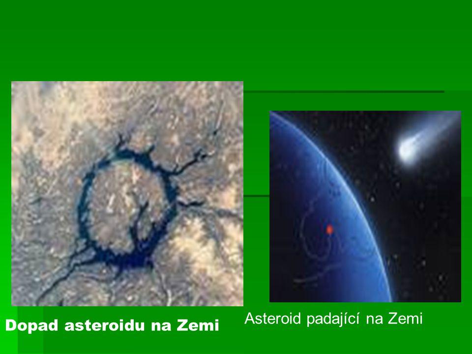 Dopad asteroidu na Zemi Asteroid padající na Zemi