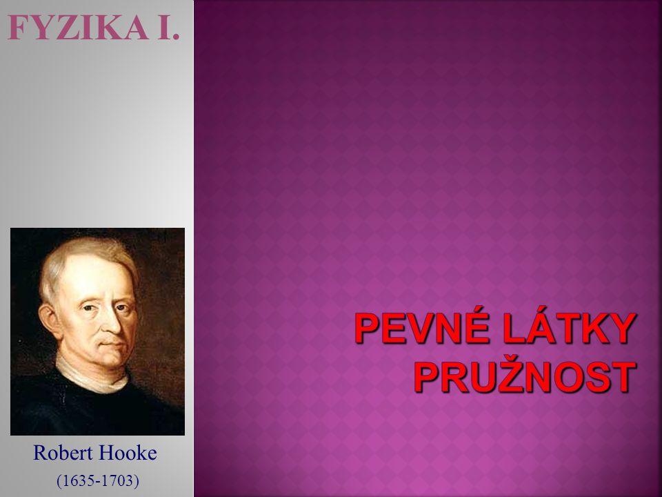 Robert Hooke (1635-1703) FYZIKA I.