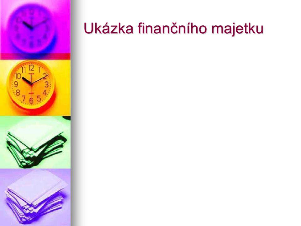 Ukázka finančního majetku