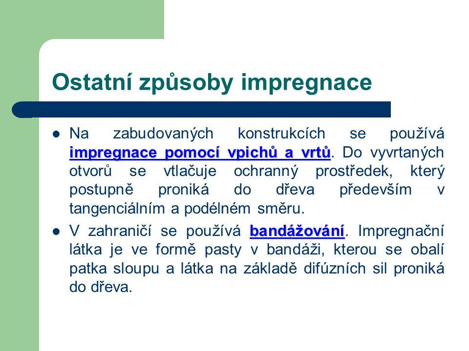 Tlakovo-vakuová impregnace Impregnace pulsačním způsobem