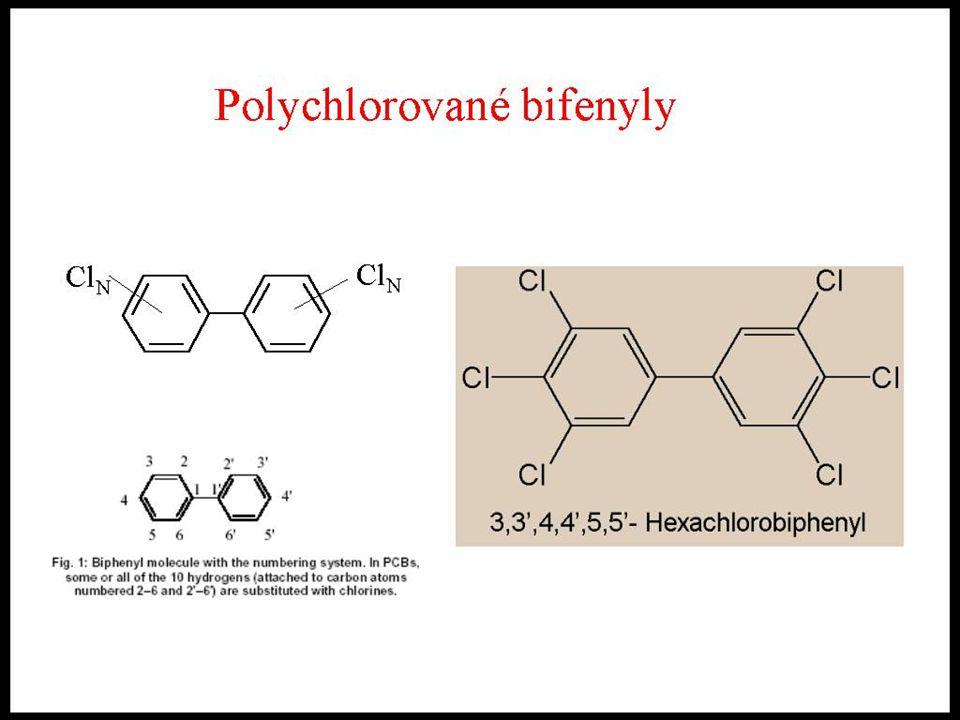21 Halogenované uhlovodíky syntetické halogenované uhlovodíky vyráběné od roku 1929 nereagují s kyselinami ani se zásadami, jsou termostabilní - diele