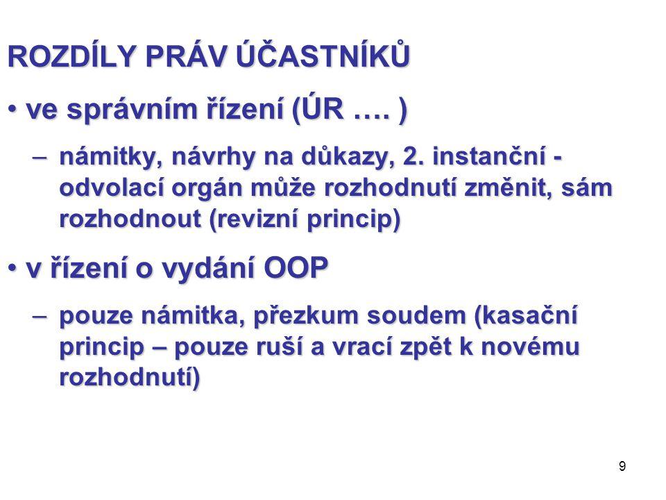 30 VEŘEJNÁ PROSTRANSTVÍ v.č.269/2009 v.č.501/2006 – v.č.