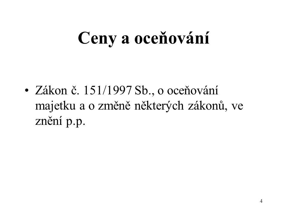 4 Ceny a oceňování Zákon č.
