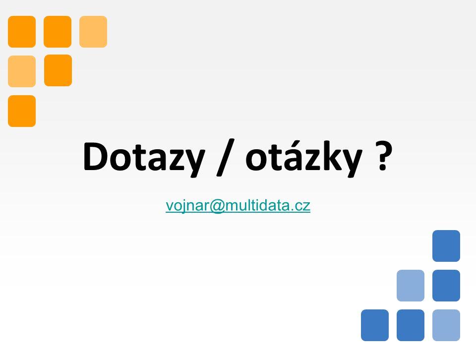 14 Dotazy / otázky ? vojnar@multidata.cz