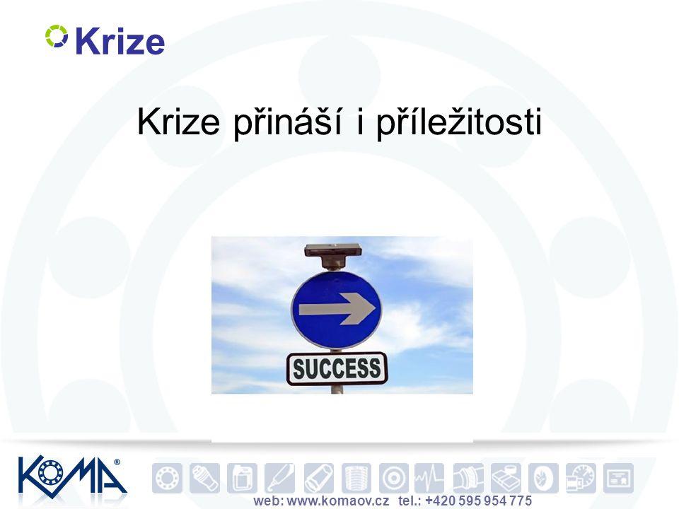 web: www.komaov.cz tel.: +420 595 954 775 Krize Krize přináší i příležitosti