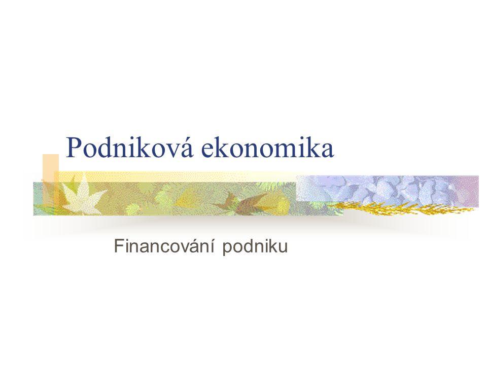Financováním se rozumí získávání finančních zdrojů (kapitálu ve všech jeho formách) a jejich použití k obstarání majetku a k úhradě výdajů na činnost podniku.