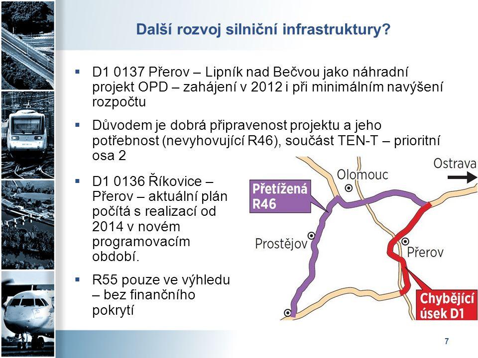 7 Další rozvoj silniční infrastruktury.