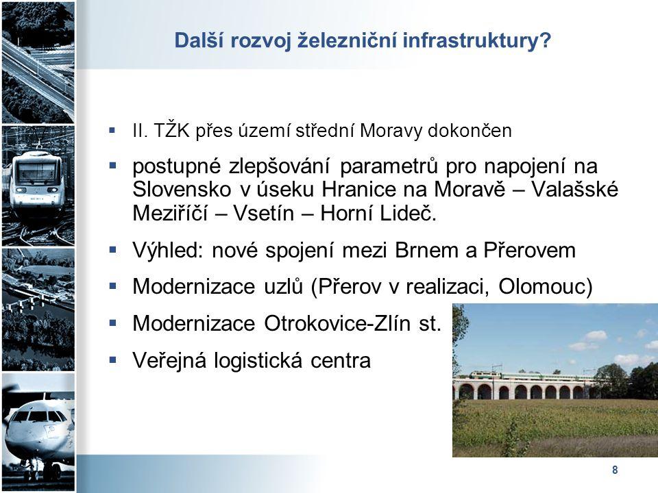 8 Další rozvoj železniční infrastruktury.  II.