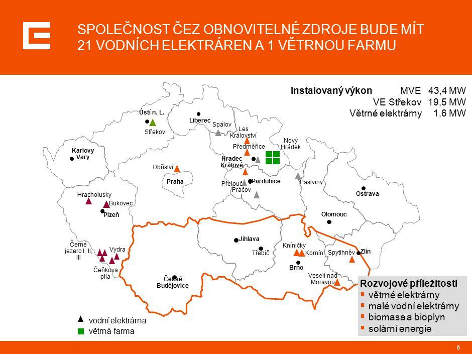 8 Praha Liberec České Budějovice Plzeň Karlovy Vary Třebíč Brno Olomouc Ostrava Hradec Králové Pardubice Ústí n. L. Zlín Obříství Kníničky Les Královs