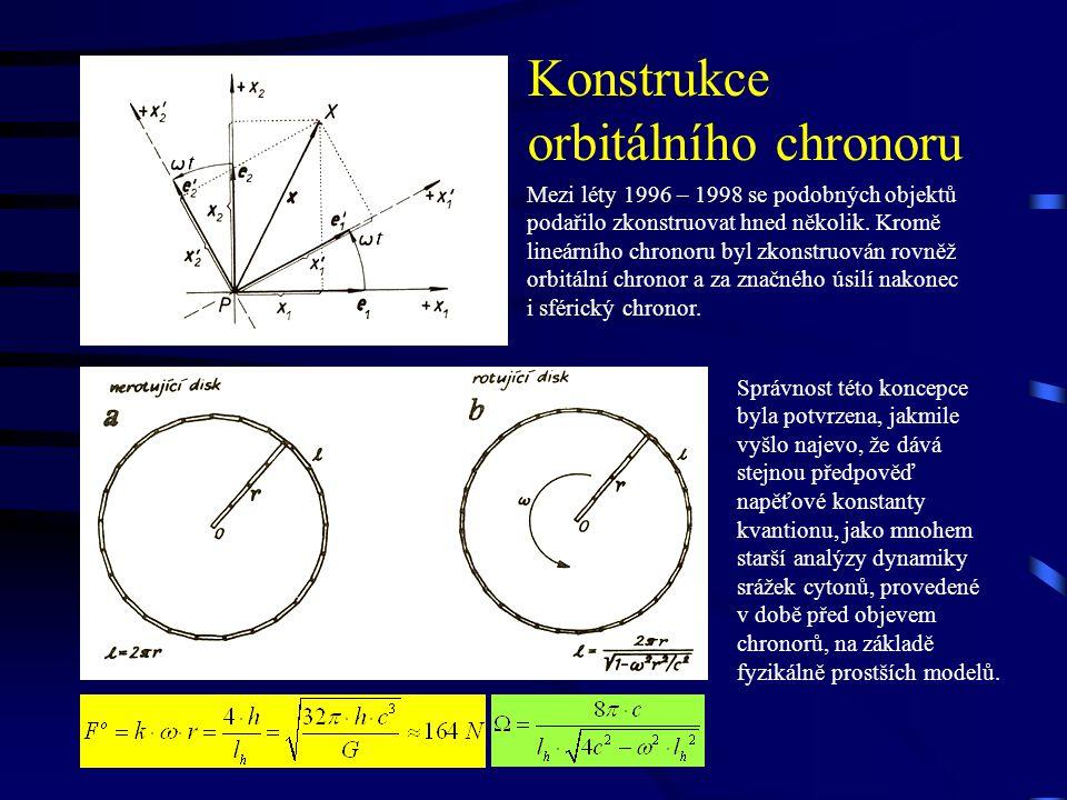 Konstrukce orbitálního chronoru Mezi léty 1996 – 1998 se podobných objektů podařilo zkonstruovat hned několik.