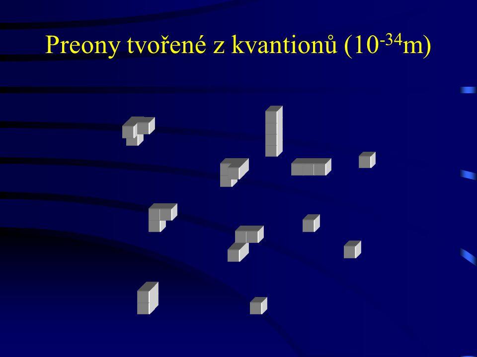 Preony tvořené z kvantionů (10 -34 m)