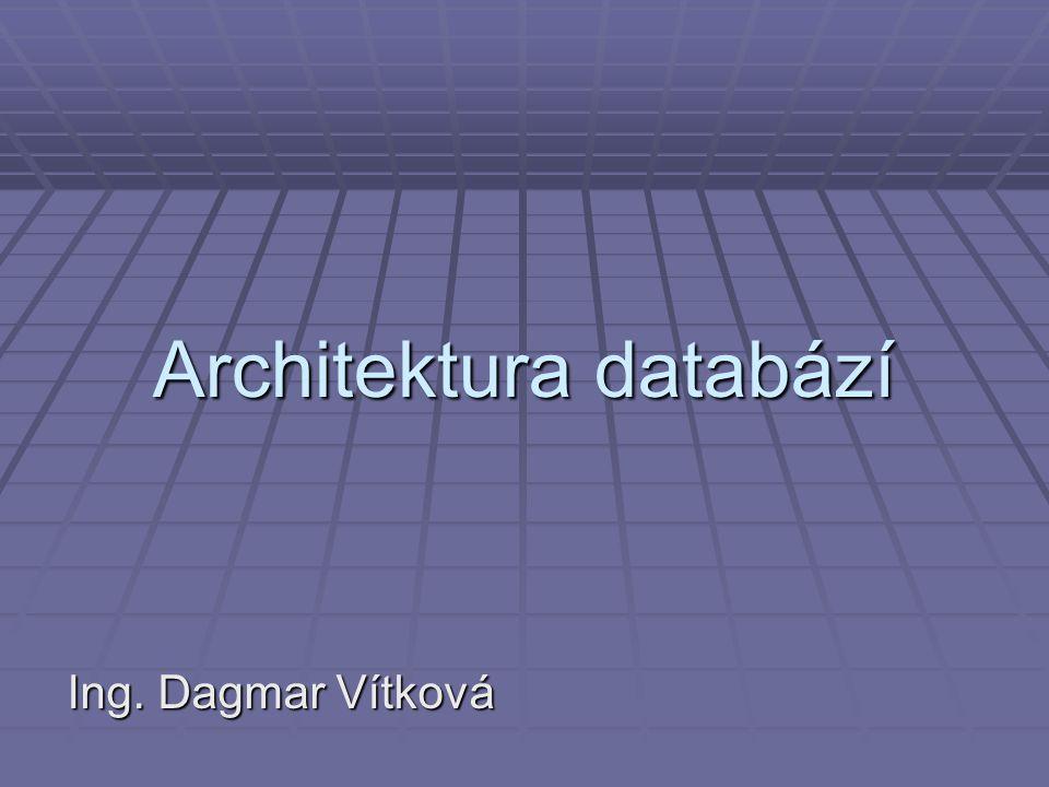 Architektura databází Ing. Dagmar Vítková