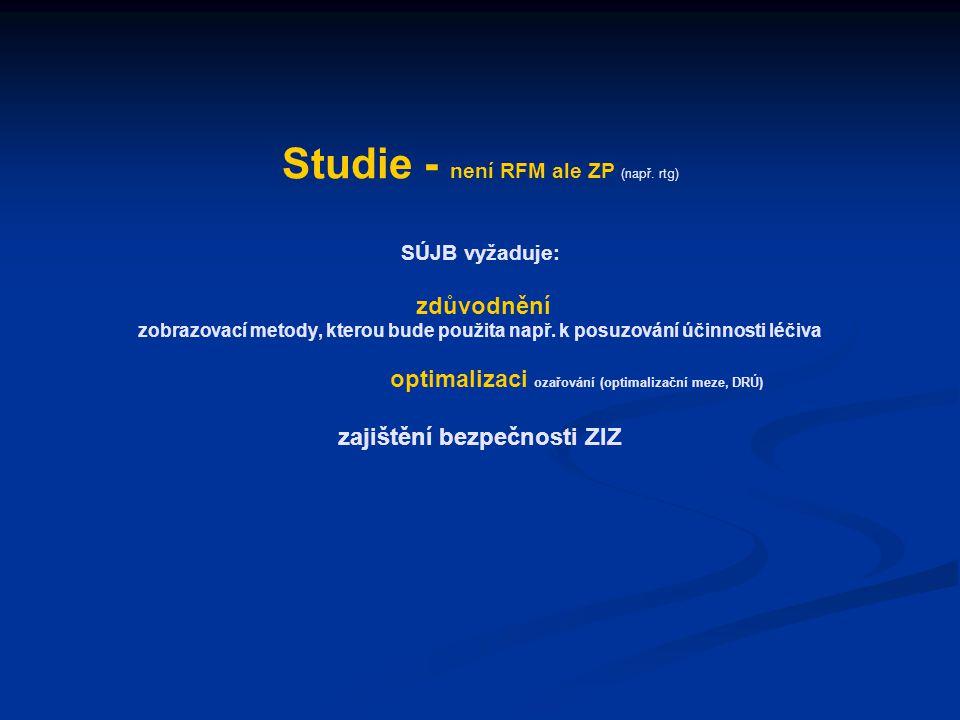 Studie - není RFM ale ZP (např.