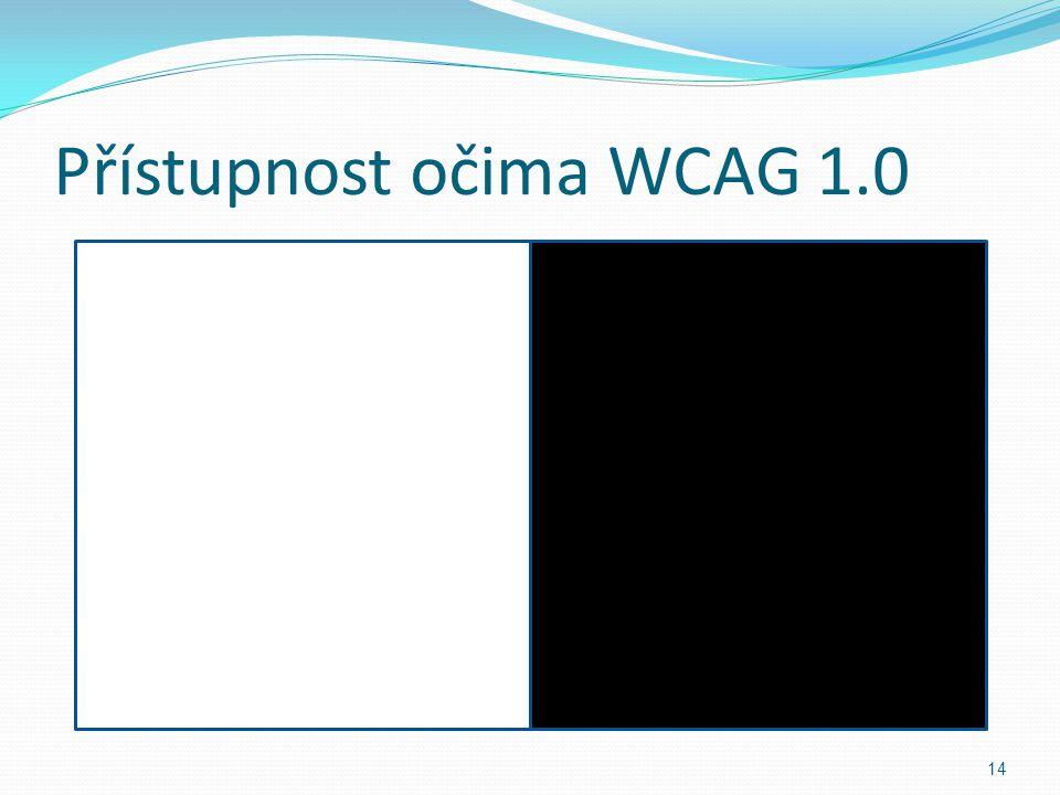Přístupnost očima WCAG 1.0 14