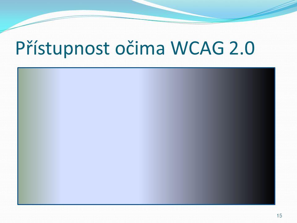 Přístupnost očima WCAG 2.0 15