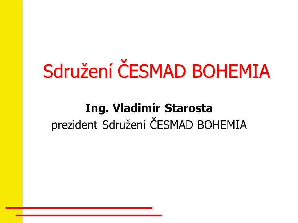 Sdružení ČESMAD BOHEMIA Ing. Vladimír Starosta prezident Sdružení ČESMAD BOHEMIA