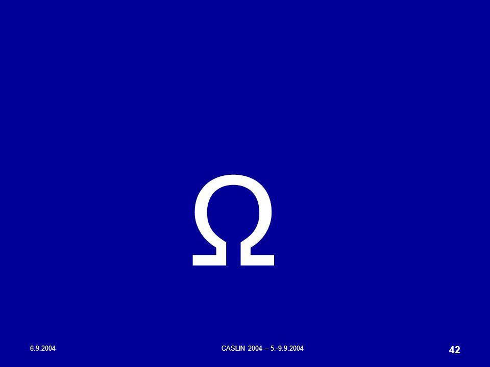 6.9.2004CASLIN 2004 – 5.-9.9.2004 42 Ω