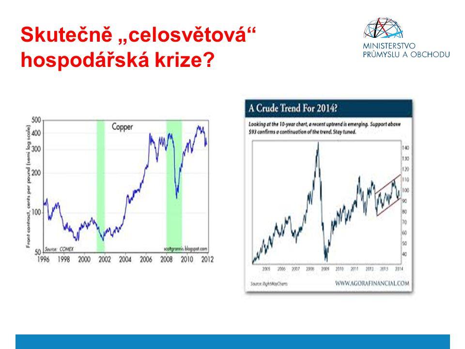 """Skutečně """"celosvětová"""" hospodářská krize?"""