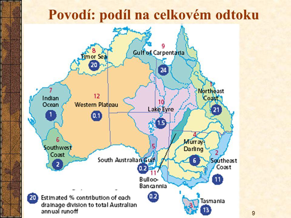 9 Povodí: podíl na celkovém odtoku