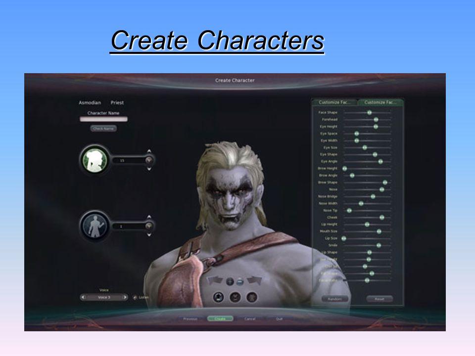Create Characters