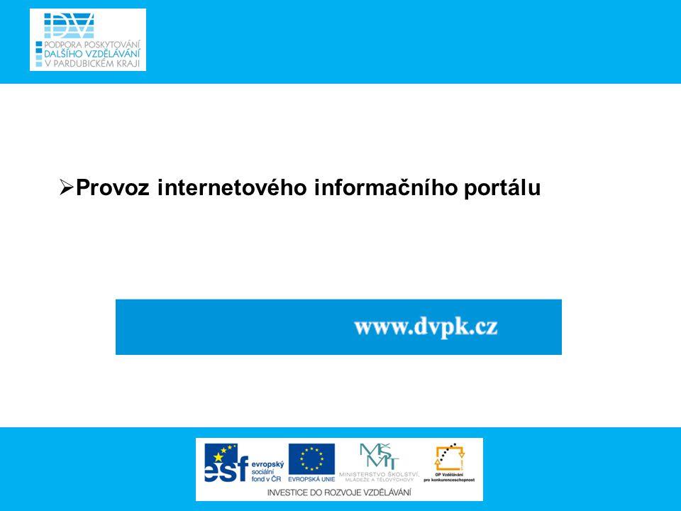  Provoz internetového informačního portálu