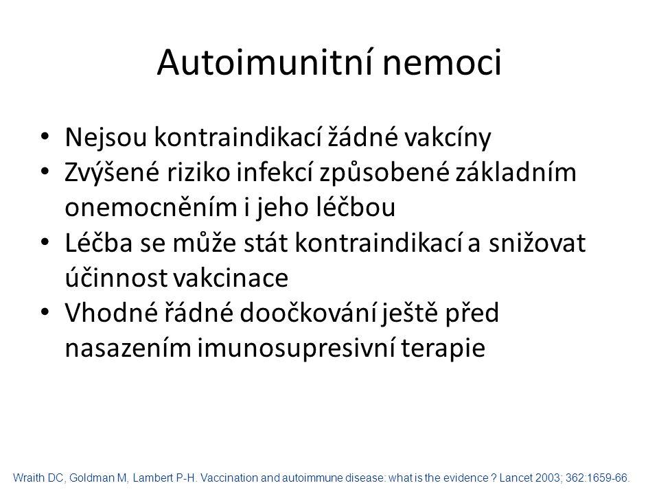 Alergické nemoci (kazuistika) 15 měsíční chlapec a atopickou dermatitidou Doporučení dermatologem: vakcinace t.č.