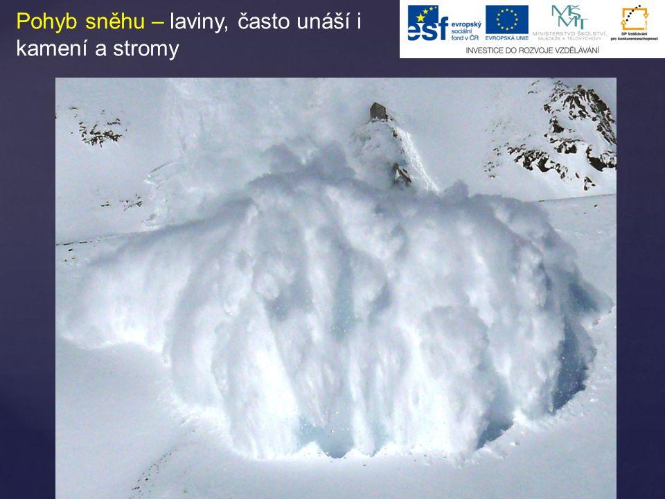 Laviny Důležitá je lavinová prevence – tři hlavní faktory ovlivňující lavinové nebezpečí – terén, sníh, počasí.