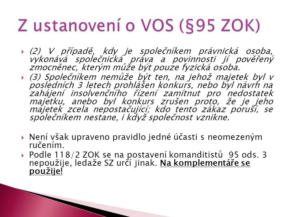  § 120  (1) Podíly komanditistů se určují podle poměru jejich vkladů.