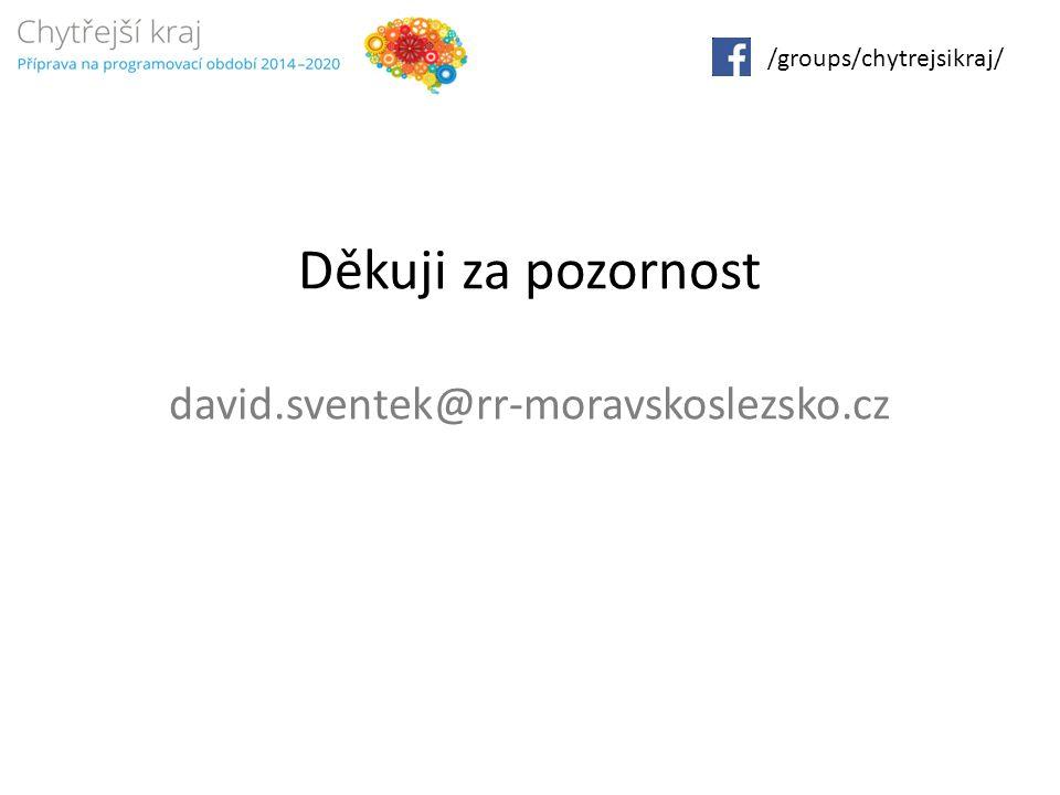 Děkuji za pozornost david.sventek@rr-moravskoslezsko.cz /groups/chytrejsikraj/