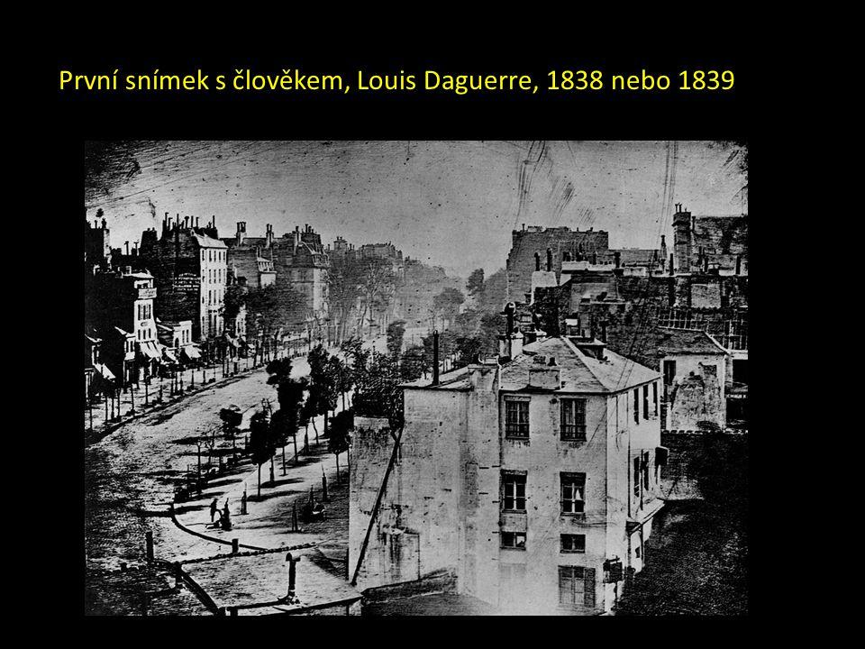 První snímek s člověkem, Louis Daguerre, 1838 nebo 1839