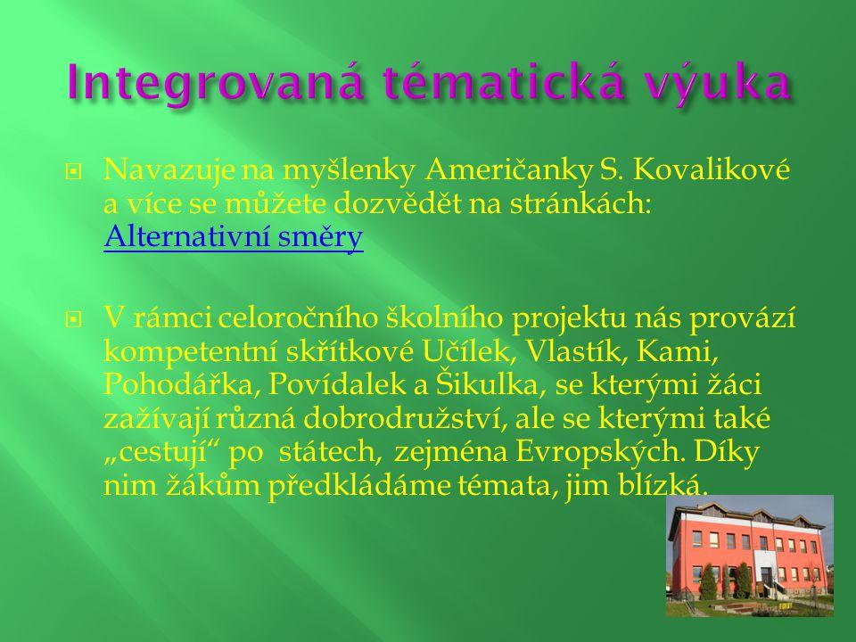  Navazuje na myšlenky Američanky S. Kovalikové a více se můžete dozvědět na stránkách: Alternativní směry Alternativní směry  V rámci celoročního šk