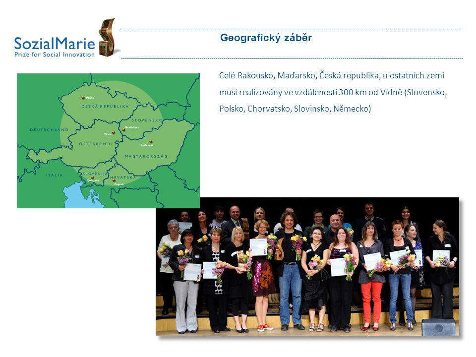 Geografický záběr Celé Rakousko, Maďarsko, Česká republika, u ostatních zemí musí realizovány ve vzdálenosti 300 km od Vídně (Slovensko, Polsko, Chorv