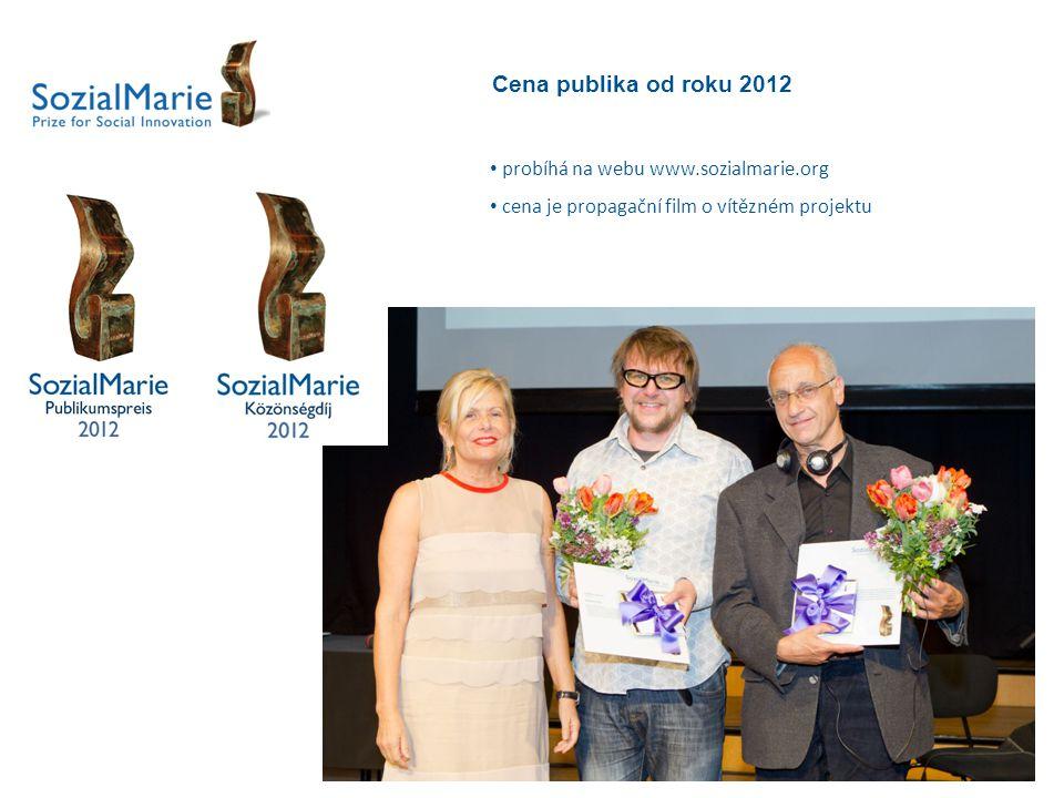 Cena publika od roku 2012 probíhá na webu www.sozialmarie.org cena je propagační film o vítězném projektu