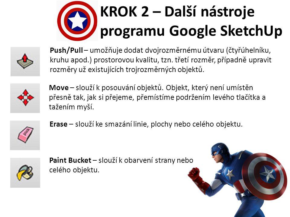 KROK 3 – Vytvoření soustředných kruhů Spustíme program Google SketchUp a vytvoříme nový soubor (pokud se nevytvoří sám).