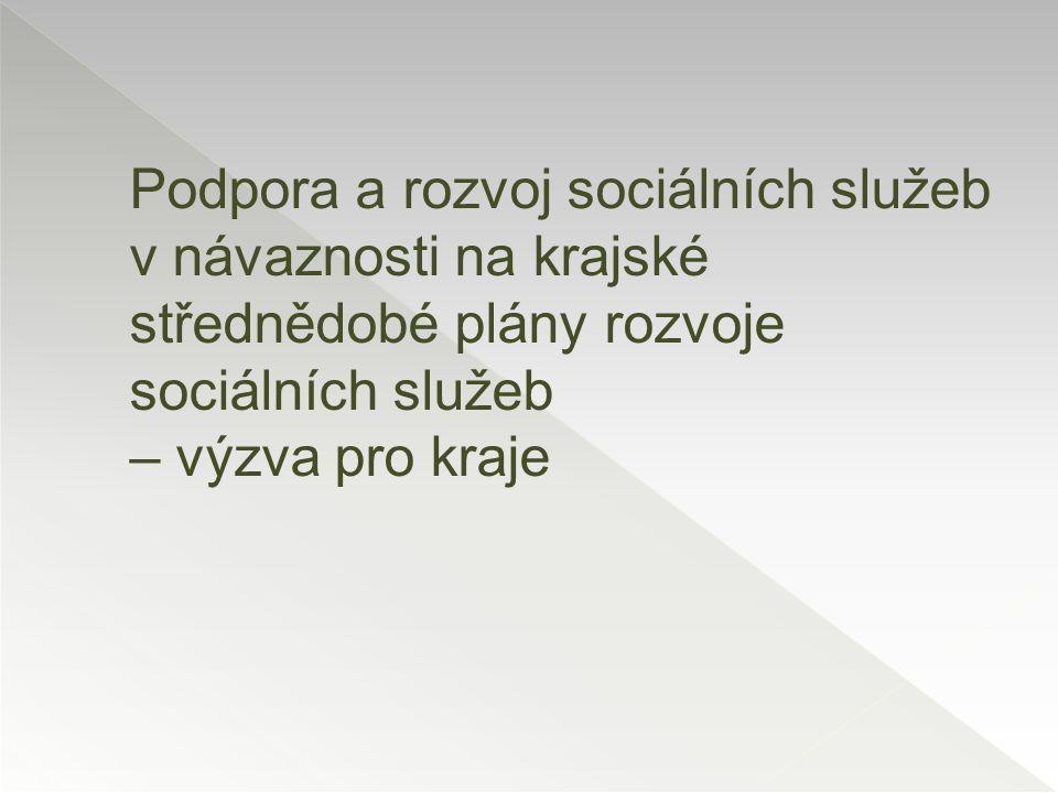  Prioritní osa 2 Investiční priorita 2.1 Specifický cíl: Zvýšit uplatnitelnost osob ohrožených sociálním vyloučením nebo sociálně vyloučených ve společnosti a na trhu práce Datum vyhlášení výzvy: 06/2015 Zahájení poskytování služeb v rámci projektu: 01/2016 Doba poskytování SS v rámci projektu: 3 roky Předpokládaná částka pro Plzeňský kraj na 3 roky: 315 900 000 Kč