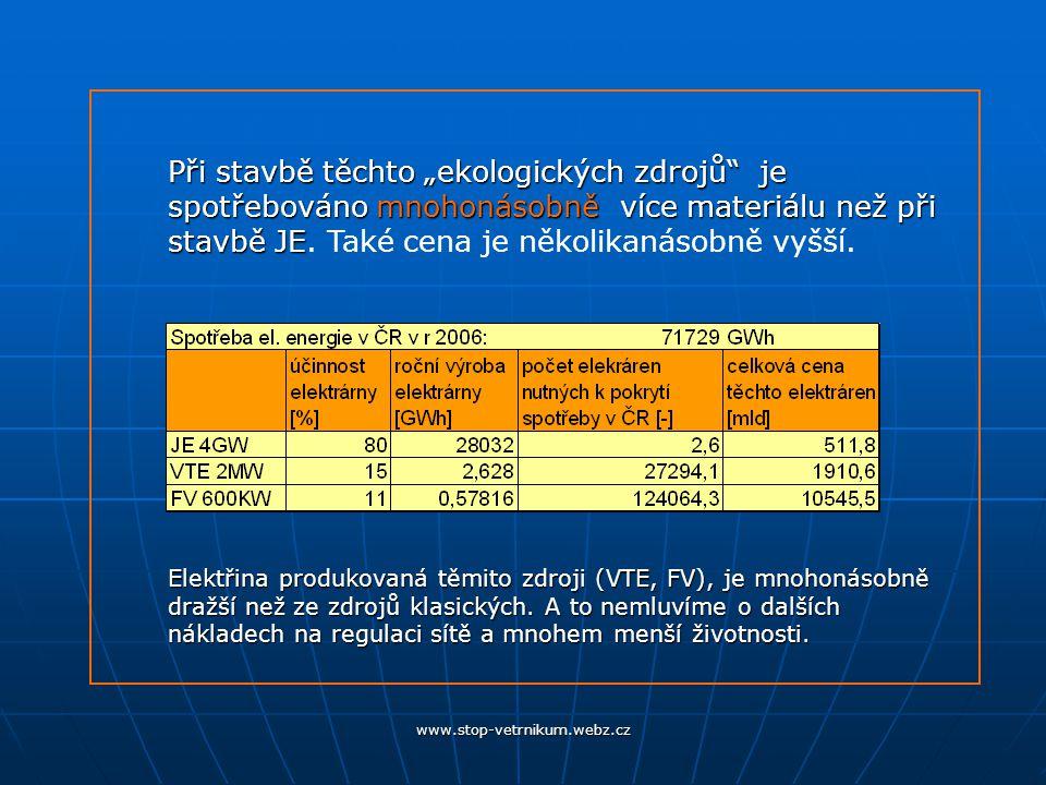 www.stop-vetrnikum.webz.cz -kvůli VTE nebude odstavena jediná tepelná nebo jaderná elektrárna.