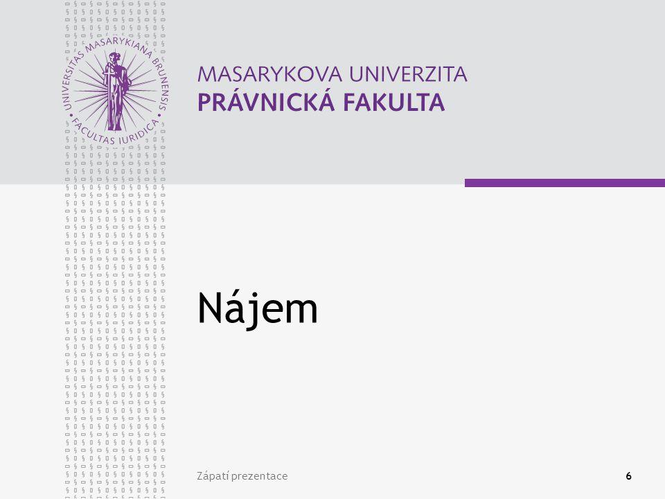 www.law.muni.cz Relativní zánik nájmu Postoupení smlouvy (§ 1895 odst.