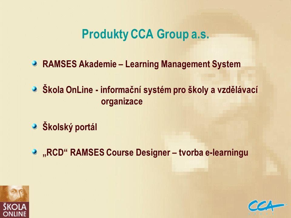 Produkty CCA Group a.s.