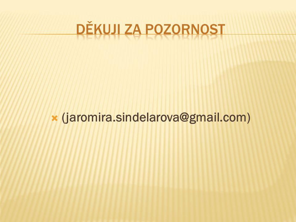  (jaromira.sindelarova@gmail.com)