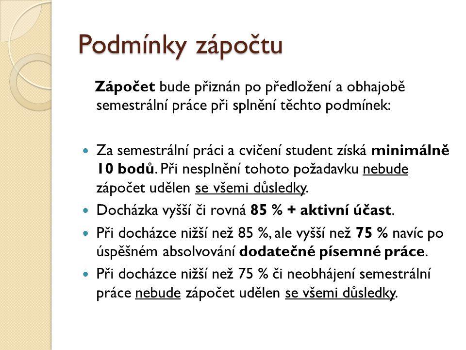 Způsob klasifikace platný pro akademický rok 2011/2012 Hodnocení je založeno na bodovém systému.
