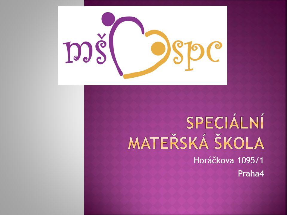 Jsme speciální mateřská škola se speciálně pedagogickým centrem.